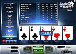 Jacks or Better Video Poker Gratis