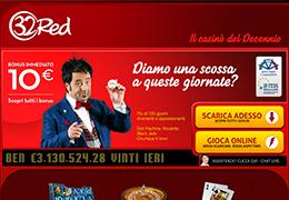 32Red - 10 Euro Gratis Senza Deposito