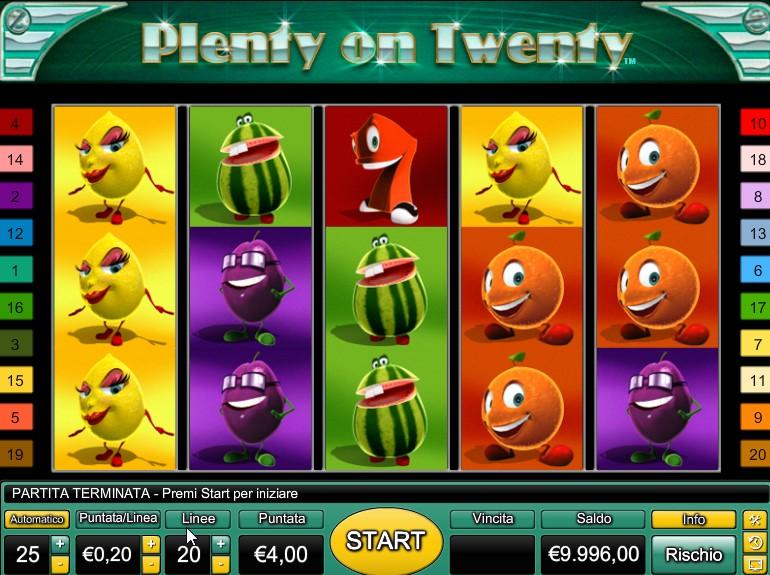 Plenty Of Twenty Slot